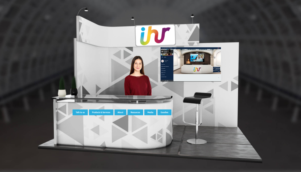 What a virtual exhibition stand looks like